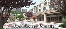 rental apartments conveniently located on the Hudson River Gold Coast with New York City NYC views at Edgewater Towne Centre in Edgewater, NJ